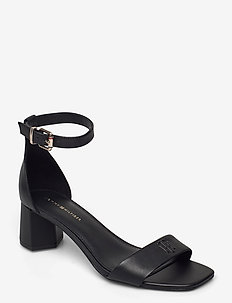 ESSENTIAL MID HEEL SANDAL - heeled sandals - black