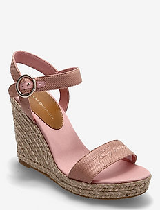 TH SIGNATURE HIGH WEDGE SANDAL - espadriller med klack - soothing pink