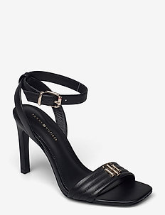 TOMMY PADDED HIGH HEEL SANDAL - heeled sandals - black