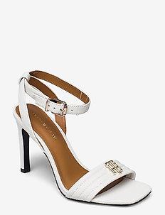 TOMMY PADDED HIGH HEEL SANDAL - heeled sandals - ecru