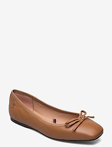 ESSENTIAL SQUARE TOE BALLERINA - ballerinas - summer cognac