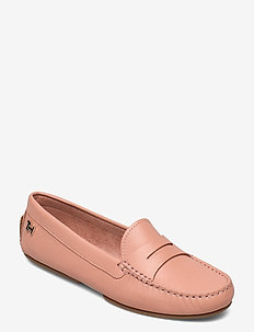 ESSENTIAL LEATHER MOCCASIN - loafers - sandbank