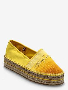 TOMMY GRADIENT ESPADRILLE - flat espadrilles - vivid yellow
