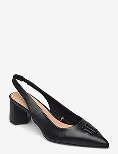FEMININE SLING BACK PUMP - sling backs - black