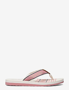 TOMMY SIGNATURE BEACH SANDAL - flat sandals - soothing pink
