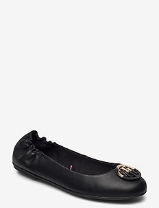 TH BASIC LEATHER BALLERINA - ballerinas - black