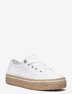 WHITE SUNSET VULC SNEAKER - lave sneakers - white