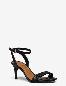 TH HARDWARE MID HEEL SANDAL - højhælede sandaler - black