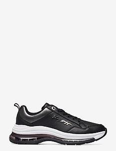 CITY AIR RUNNER METALLIC - lave sneakers - black