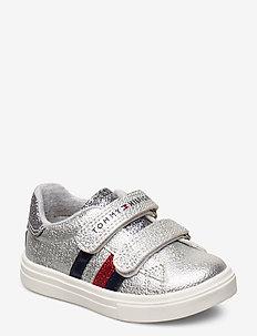 LOW CUT VELCRO SNEAKER SILVER - sneakers - argente