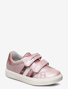 LOW CUT VELCRO SNEAKER SILVER - sneakers - rosa
