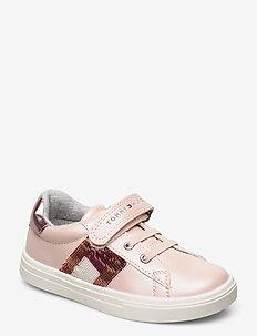 LOW CUT LACE-UP/VELCRO SNEAKER - sneakers - rosa
