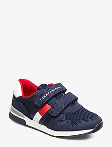 LOW CUT VELCRO SNEAKER - BLU