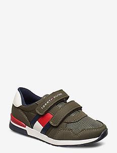 LOW CUT VELCRO SNEAKER - sneakers - dark green
