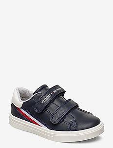 LOW CUT VELCRO SNEAKER - sneakers - blu/bianco