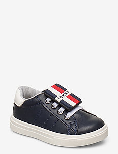 LOW CUT LACE-UP SNEAKER - BLU/BIANCO