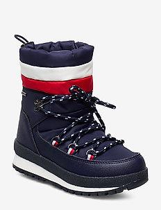 TECHNICAL BOOTIE - vinterstøvler - blu/rosso/bianco