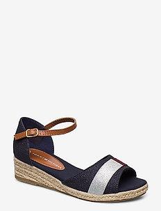 ROPE WEDGE SANDAL - sandals - blu