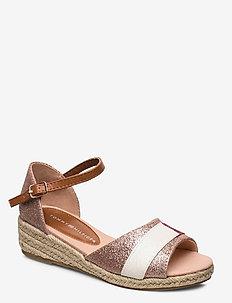 ROPE WEDGE SANDAL - sandals - rosa
