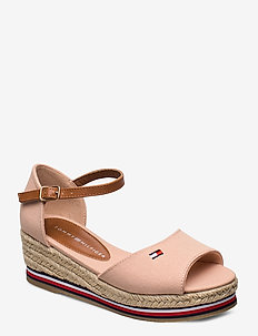 ROPE WEDGE SANDAL - NUDE