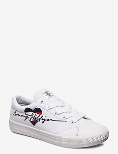 LOW CUT LACE-UP SNEAKER BLUE - BIANCO