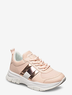 LOW CUT LACE-UP SNEAKER PINK - ROSA
