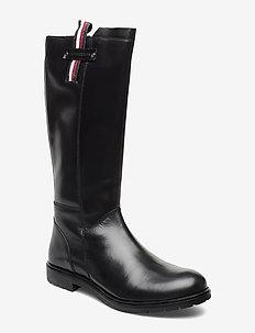 BOOT BLACK - høye boots - nero