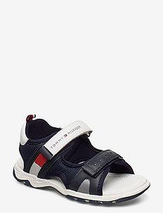 VELCRO SANDAL - sandals - blu/bianco