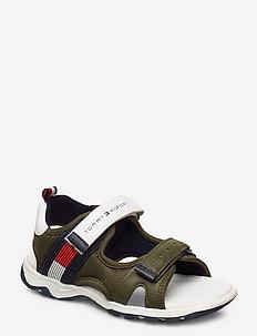 VELCRO SANDAL - sandals - military green/white