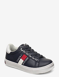 LOW CUT LACE-UP SNEAKER - sneakers - blu/bianco