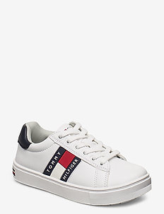 LOW CUT LACE-UP SNEAKER - sneakers - white/blue