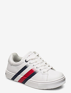LOW CUT LACE-UP SNEAKER - BIANCO