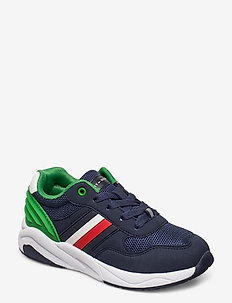 LOW CUT LACE-UP SNEAKER - sneakers - blue/green