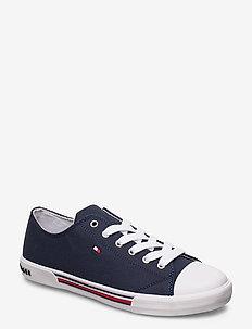 LOW CUT LACE-UP SNEAKER BLUE - sneakers - blu