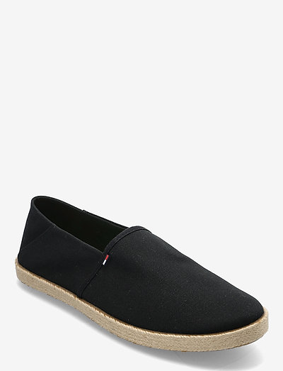 TOMMY JEANS ESSENTIAL ESPADRILLE - chaussures - black