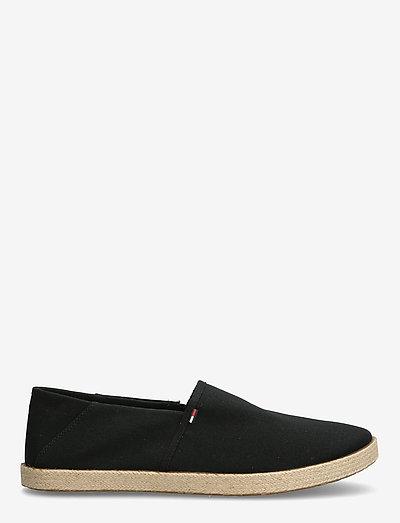 TOMMY JEANS ESSENTIAL ESPADRILLE - schoenen - black