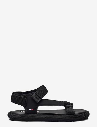 TOMMY JEANS SPORTY SANDAL - płaskie sandały - black