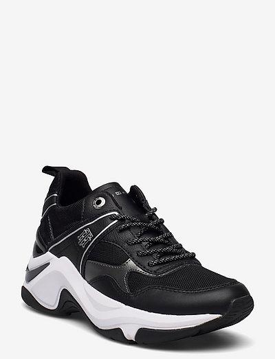 FASHION WEDGE SNEAKER - low top sneakers - black
