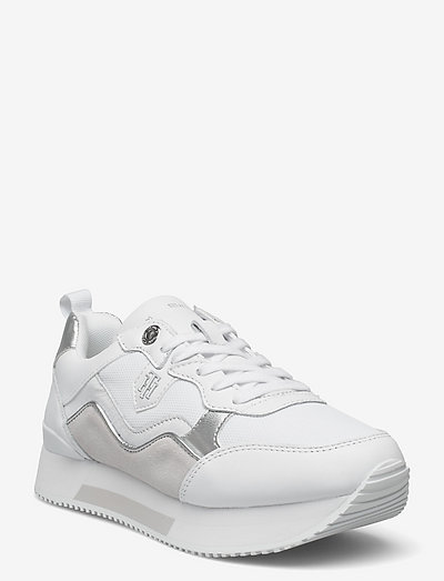 MATERIAL MIX ACTIVE CITY SNEAKER - low top sneakers - white