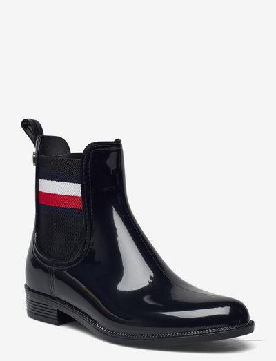CORPORATE RIBBON RAINBOOT - bottes de pluie - black
