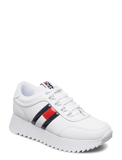 High Cleated Flag Sn Niedrige Sneaker Weiß TOMMY HILFIGER