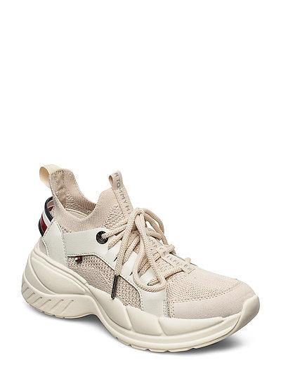 New Chunky Tommy Sneaker Niedrige Sneaker Beige TOMMY HILFIGER