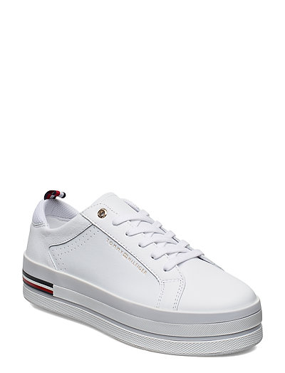 Modern Flatform Cupsole Niedrige Sneaker Weiß TOMMY HILFIGER