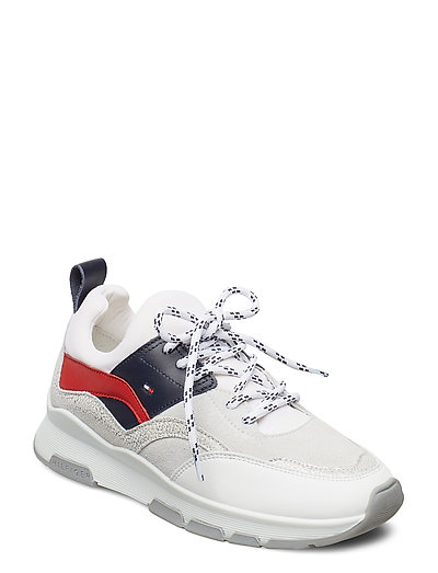 Sporty Chunky Glitte Niedrige Sneaker Weiß TOMMY HILFIGER