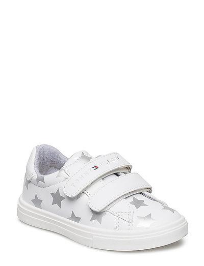 Tommy Hilfiger Scarpa Velcro Stampa Stelle (Bianco argento) cacfa24f0ca