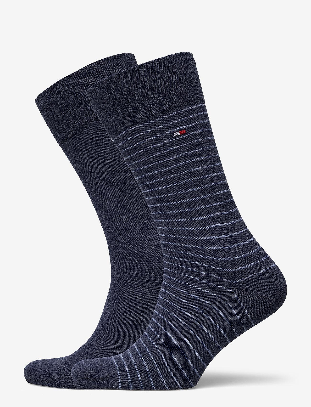 Tommy Hilfiger - TH MEN SMALL STRIPE SOCK 2P - vanliga strumpor - jeans - 0