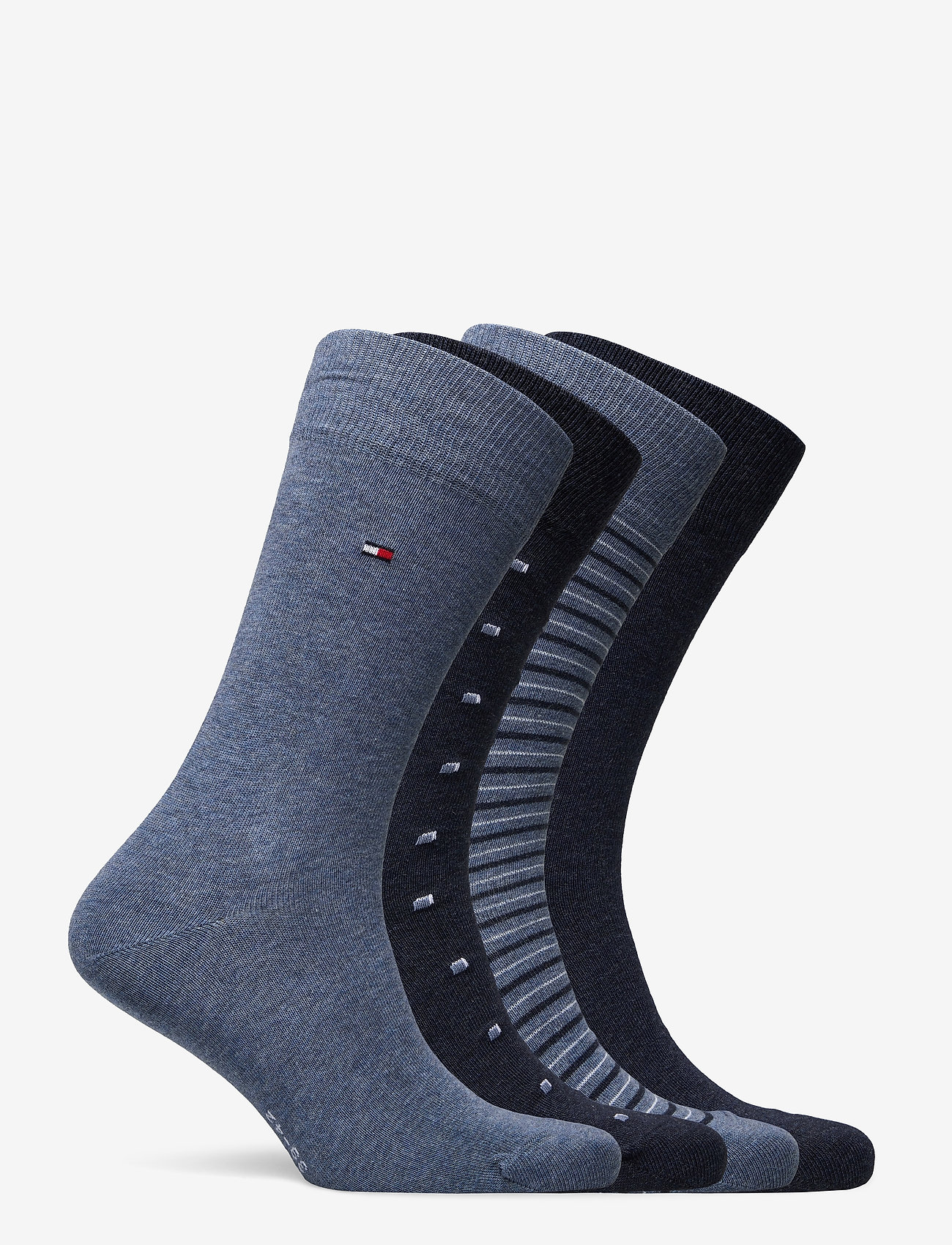Tommy Hilfiger - TH MEN SOCK 4P TIN GIFTBOX STRIPE - vanliga strumpor - jeans - 1