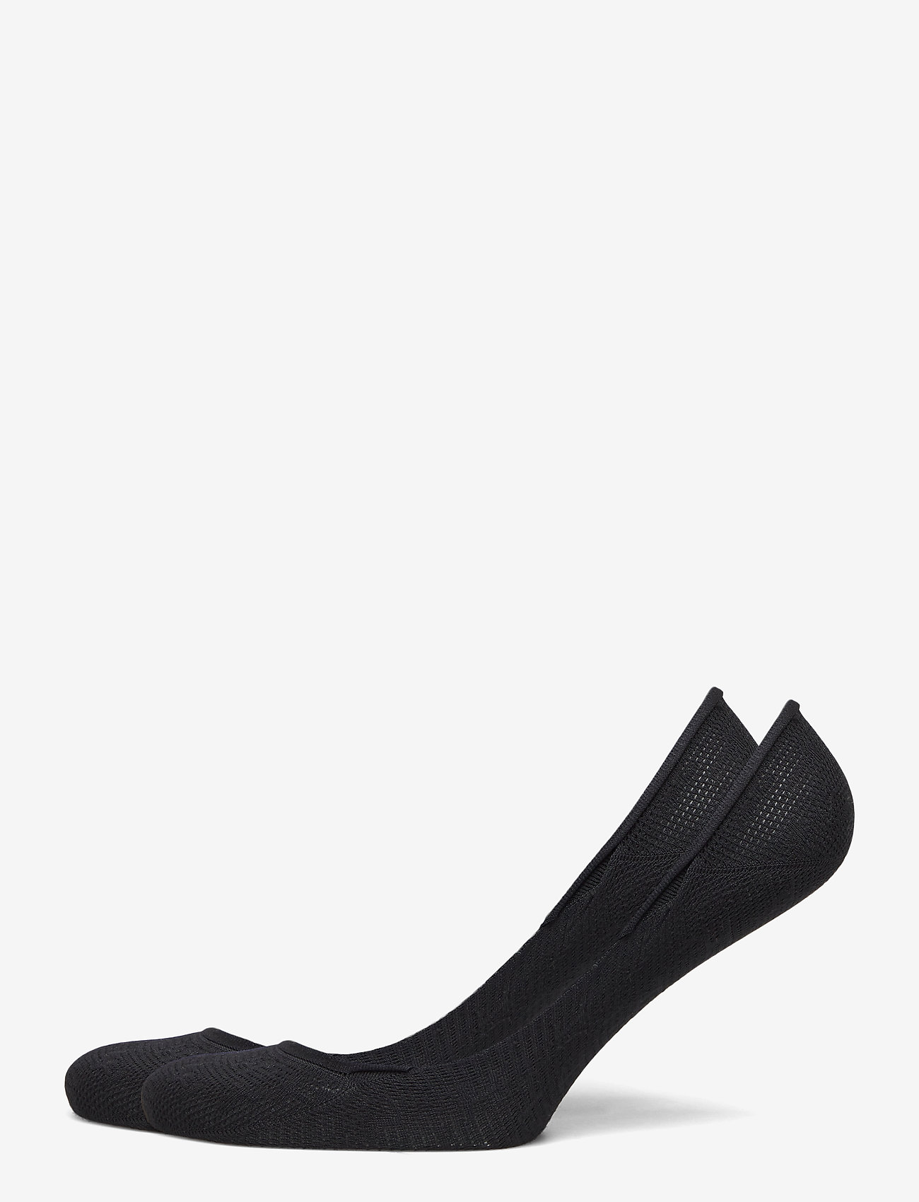Tommy Hilfiger - TH WOMEN FOOTIE 2P TH BURN OUT - footies - black - 0