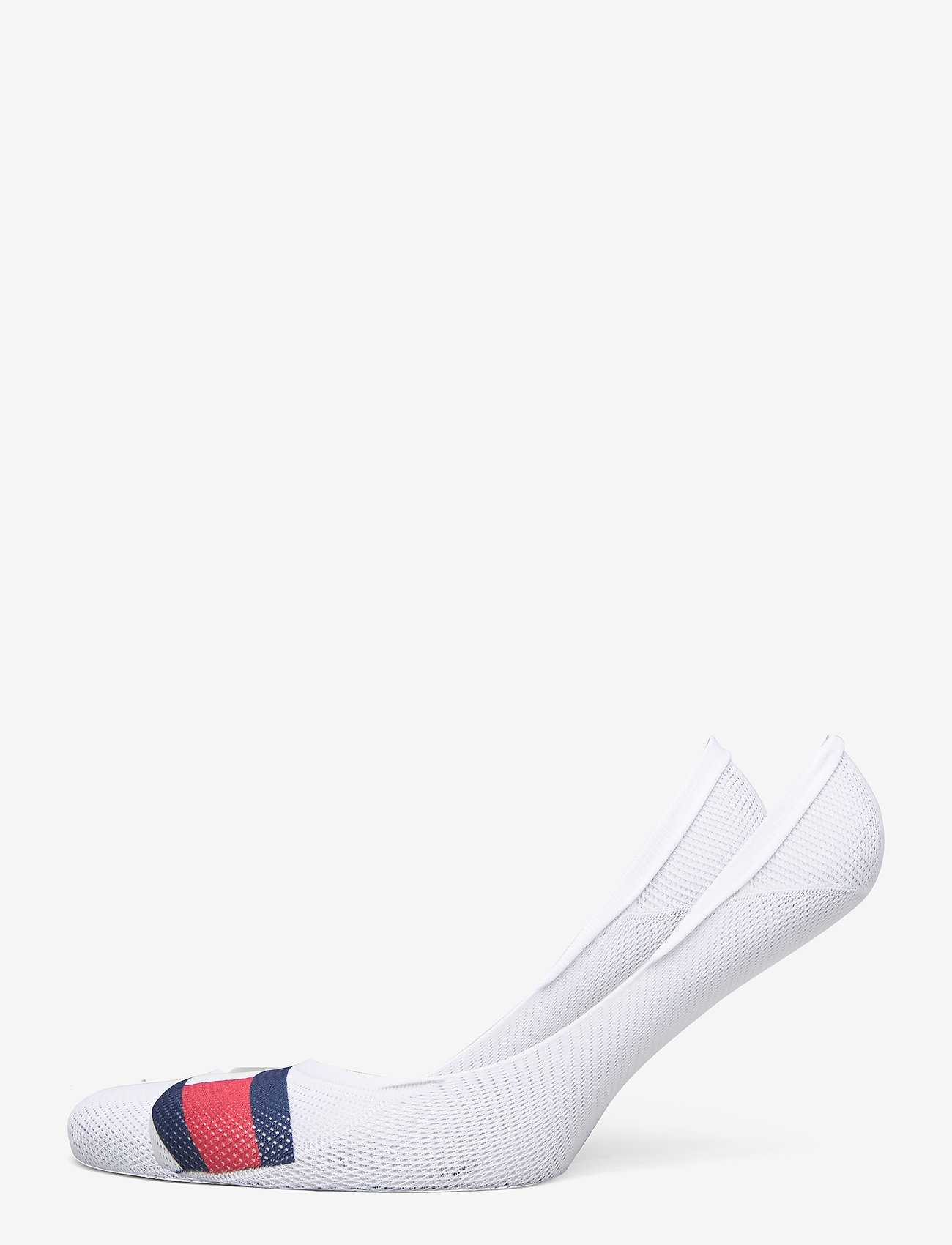 Tommy Hilfiger - TH WOMEN FOOTIE 2P MESH FLAG - footies - white - 0