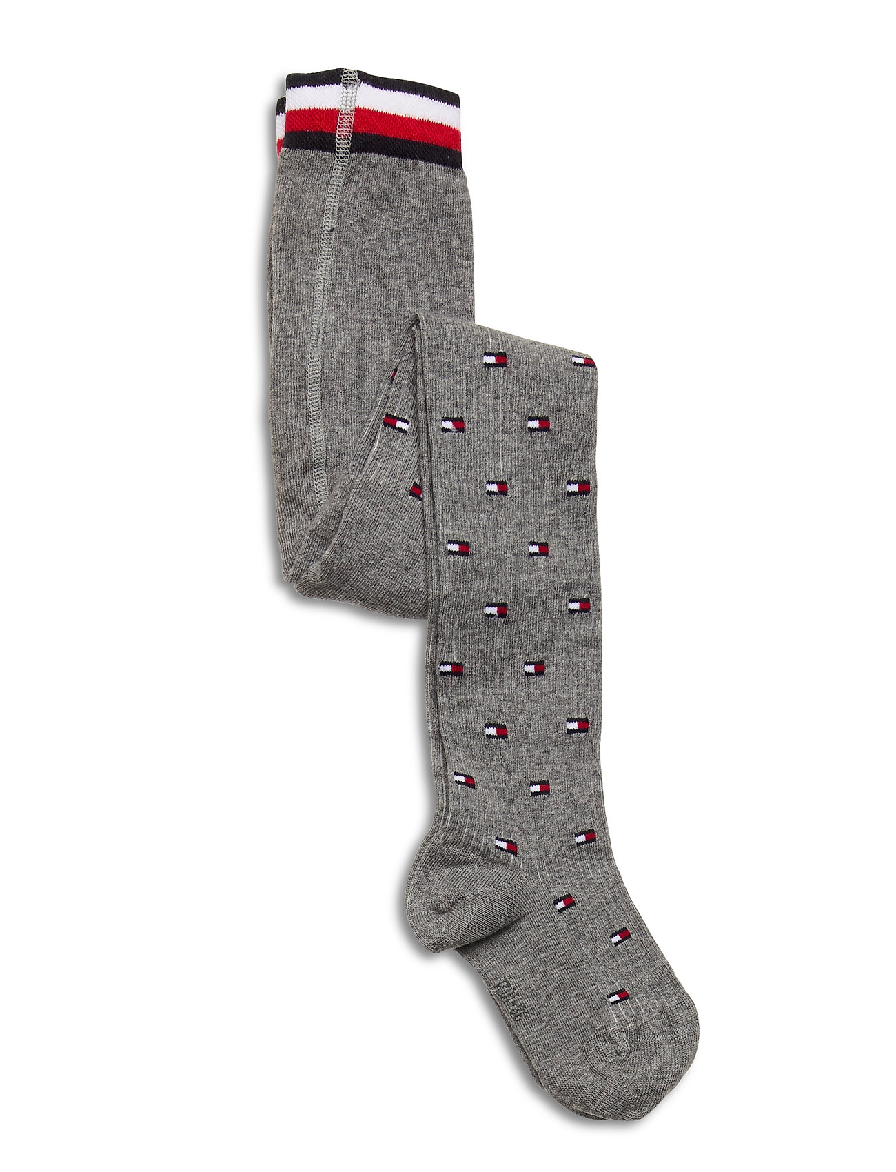 Image of Th Kids Tight 1p Flag Socks & Tights Tights Grå Tommy Hilfiger (3442841587)